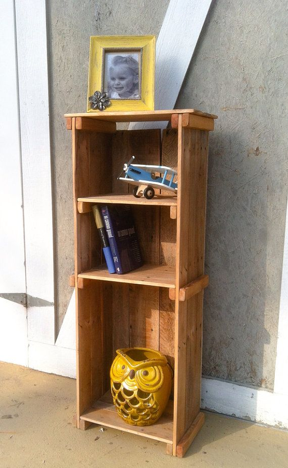 Primitive bookshelf made from reclaimed by IndianBeachWayfarers, $135.00