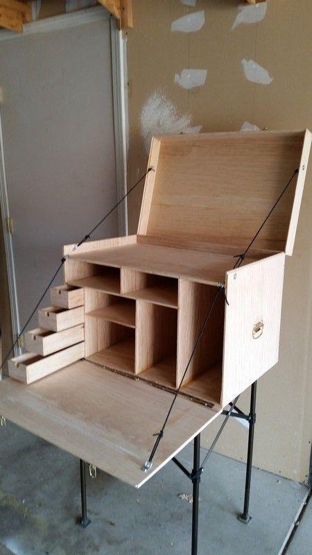 Box writing desk