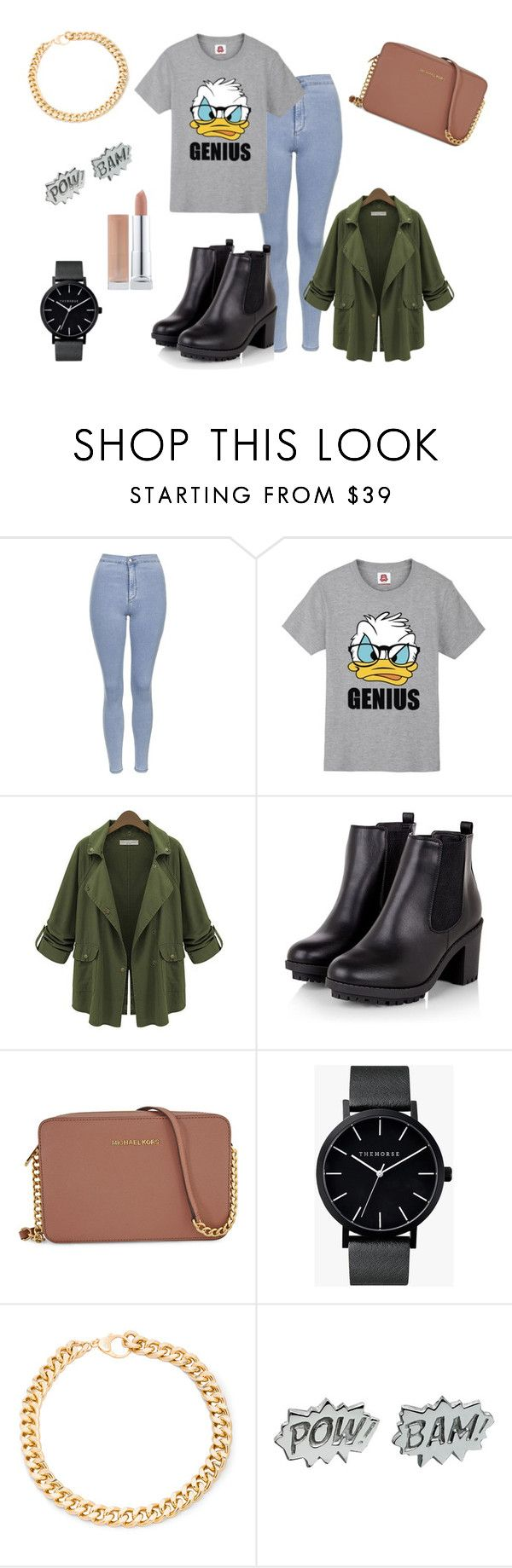 """#GENIUS :))"" by dagusia112 on Polyvore featuring moda, Topshop, Disney, Michael Kors, The Horse, Alessandra Rich i Edge Only"