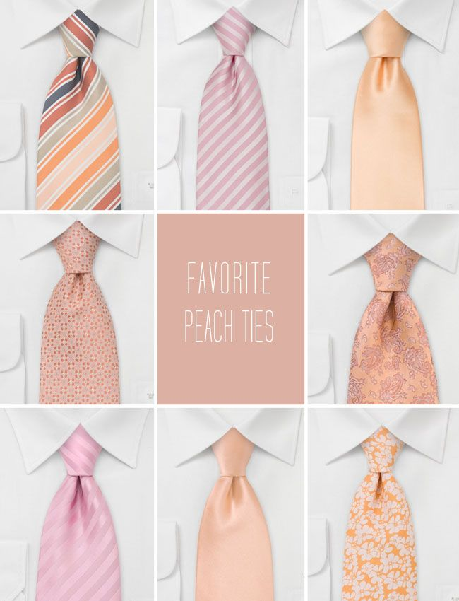 ties for guys- if peach I like the bottom middle...but I think I prefer a green tie with gray suit/vest and we can tie in colors on their boutineers