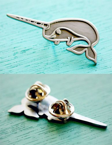 Narwhal Brooch / Lapel Pin
