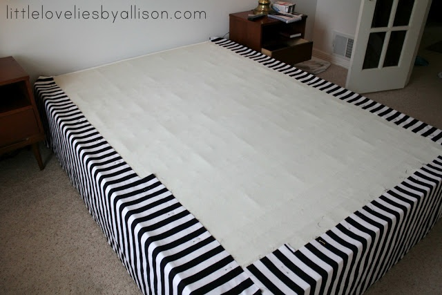 DIY bedskirt/boxspring cover. hardly any sewing necessary!