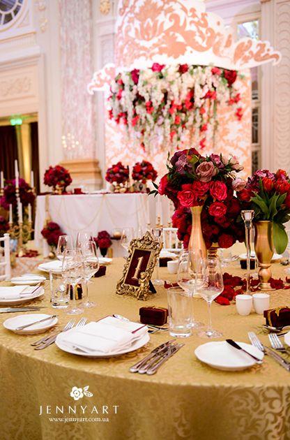wedding decor, king, gold wedding