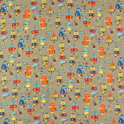 Cord Funky Robot 2 - Coton - beige