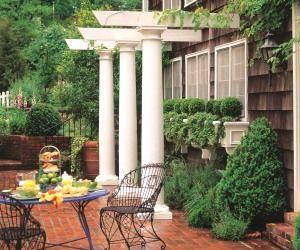 HB fiberglass porch columns, square columns and round columns and pillars.
