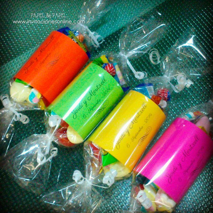 bolsitas de dulces formato caramelo para los nios invitados a tu boda