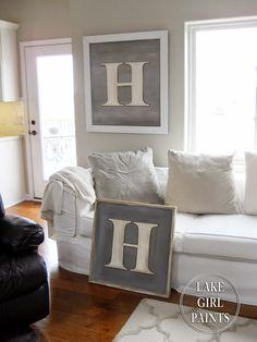 Lake Girl Paints: Making A Monogram Wood Sign