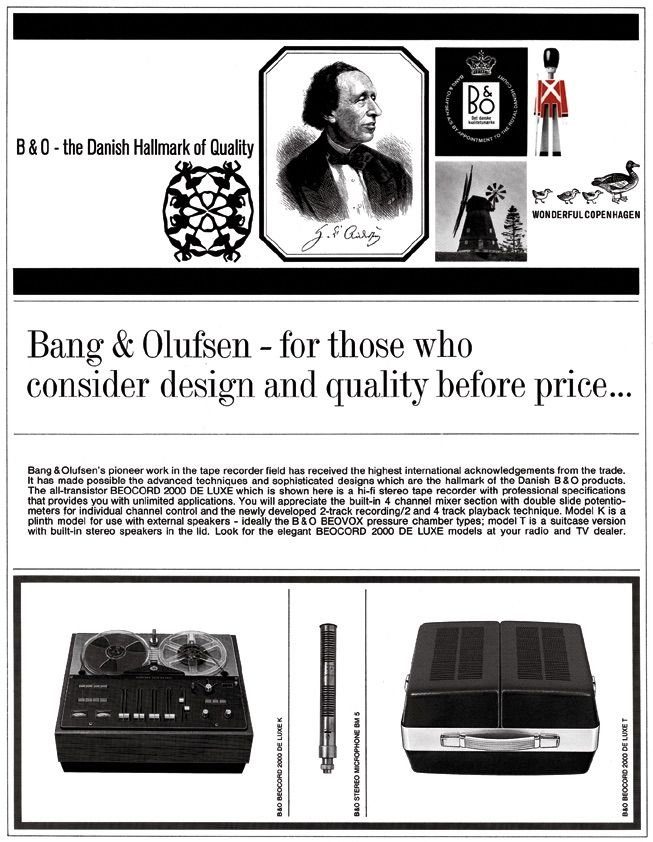 """""""For those who consider design and quality before price"""" - Article about Bang & Olufsen back in the days!"""