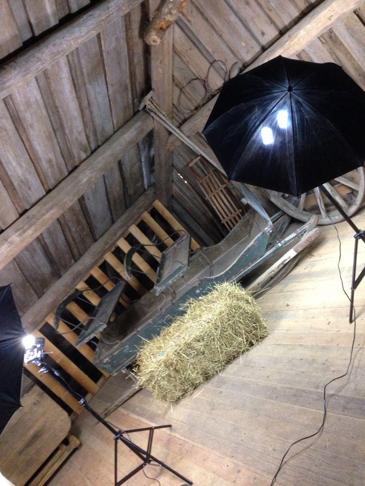 Fotohjørne, låven, my home studio, barn, Gjerstad, Norway ...