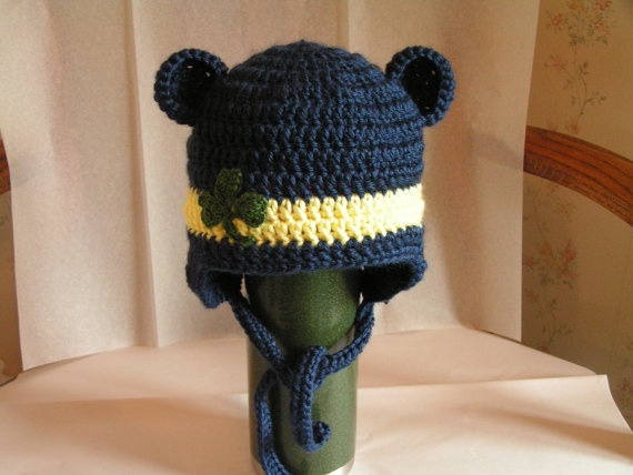 Baby hat  for Notre Dame Irish or Chicago with by BellesBluffworks, $12.95
