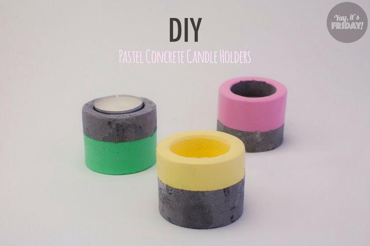 Pastellia / Pastel crush / Beton / Concrete / Lantern / Diy project/ Paint / Table candles
