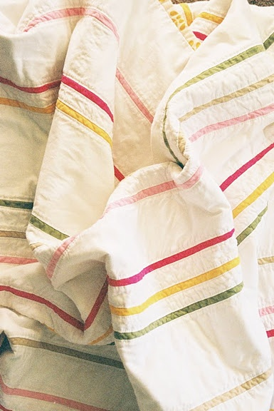 skinny stripes quilt.: Girly Gardens, Quilts Patterns, Simple Stripes, Quilts Inspiration, Gardens Stripes, Color, Skinny Stripes, Stripes Quilts, Quilts Ideas