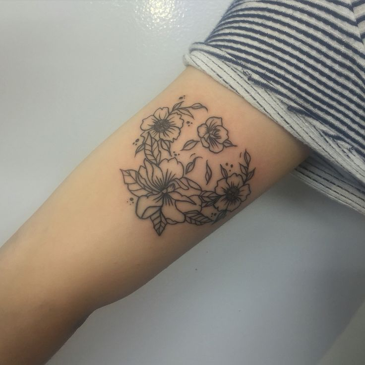 Floral arm tattoo @danibelleink