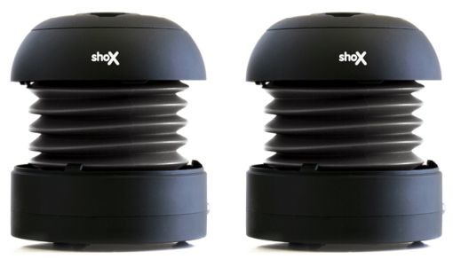The shoX Duo ... speakers that slot together or separate for surround sound!