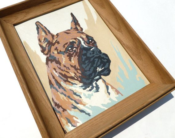 Vintage Boxer Dog Breed Paint By Number