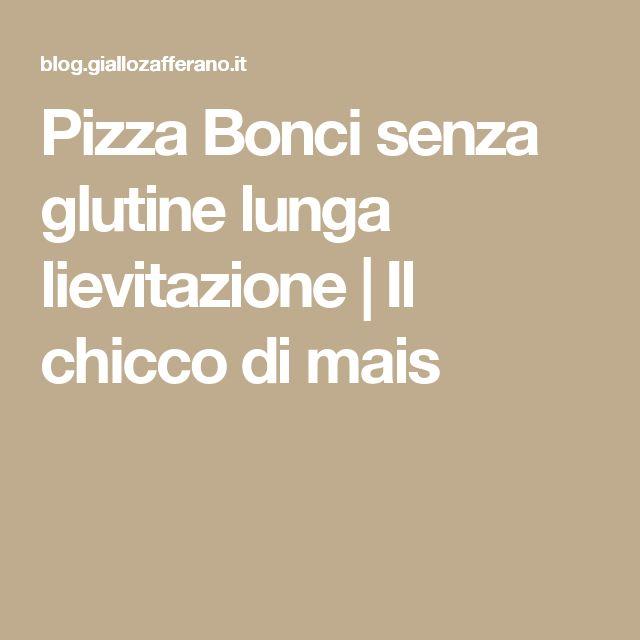 Pizza Bonci senza glutine lunga lievitazione | Il chicco di mais