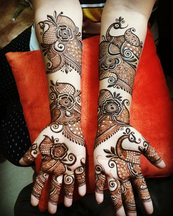 Peacock Mehndi Designs - 50 Beautiful Peacock Henna Designs