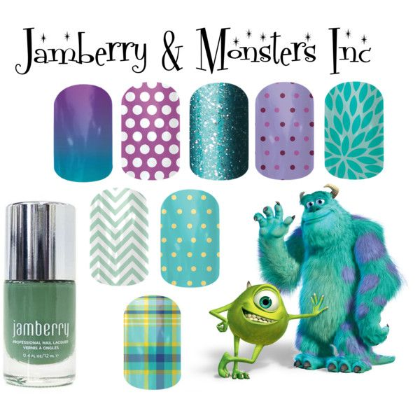 """Jamberry & Monsters Inc""  Shop now http://christenmurray.jamberrynails.net"