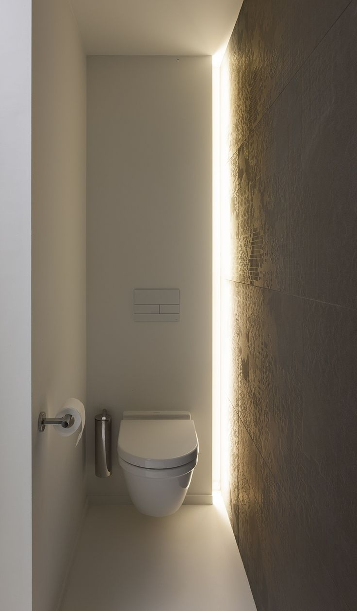 Indirect Lighting Design By Architectenburo Anja Vissers Wc Design Moderne Toilette Indirekte Beleuchtung