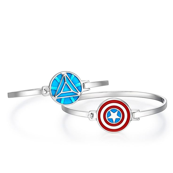 Super Hero Collection Sterling Silver Bracelet For Women With Enamel