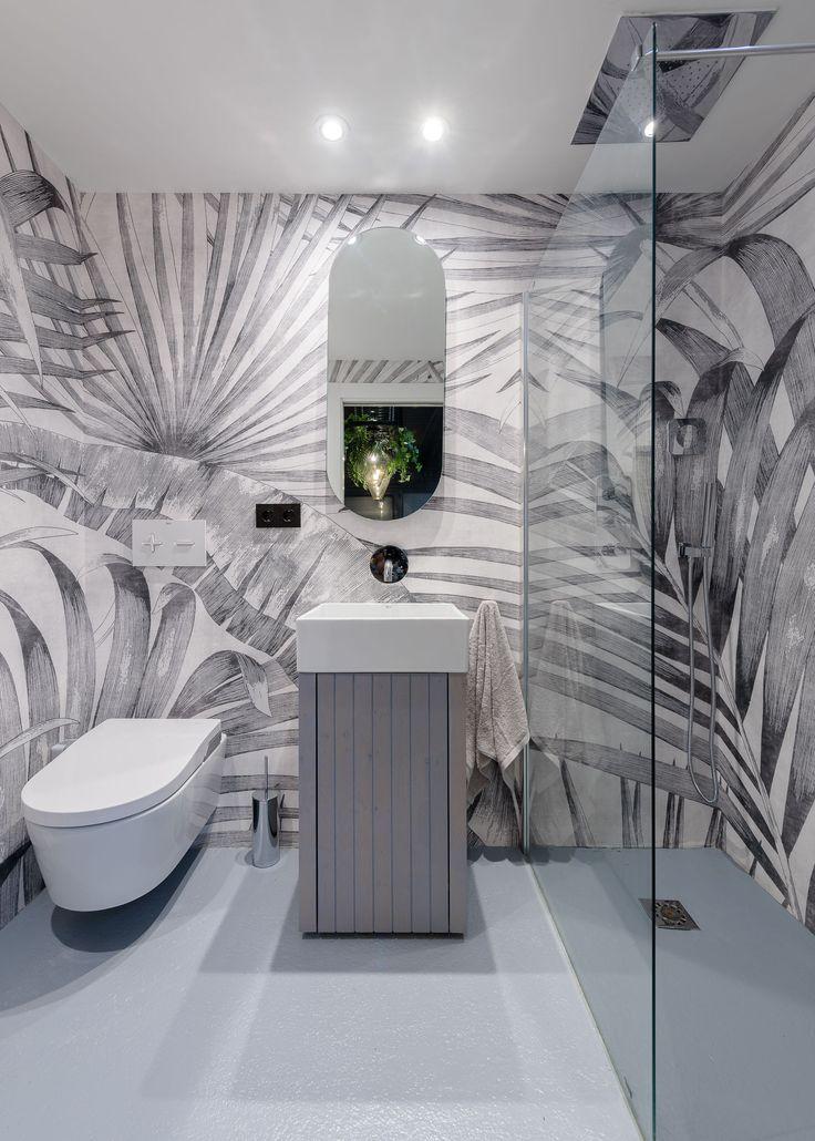 El papel pintado para baños es una alternativa muy ...