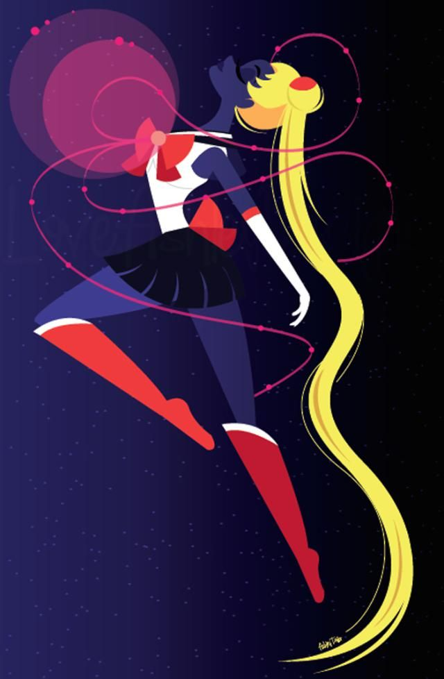 These Quirky Sailor Moon Illustrations are Awesome: Leader of the Sailor Scouts, Sailor Moon
