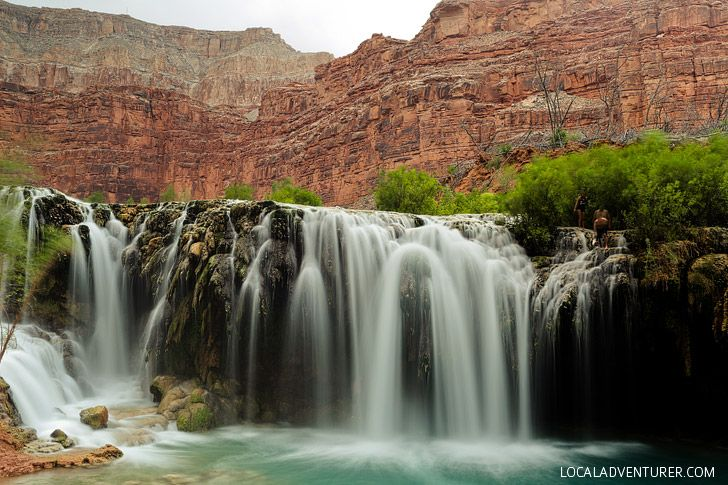 Lower Navajo Falls - First of the Waterfalls You will encounter in Havasu Canyon // localadventurer.com