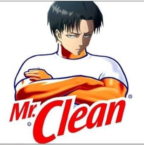 Guy Cleaning Kitchen: Levi X Mr. Clean
