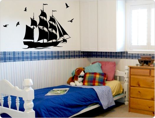 Marvelous Wandtattoo Kinderzimmer Piratenschiff