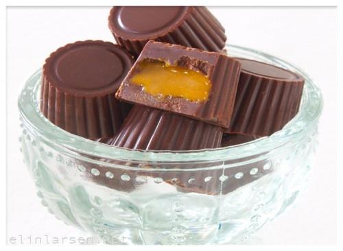 Sjokolade med karamellfyll (sukkerfritt)