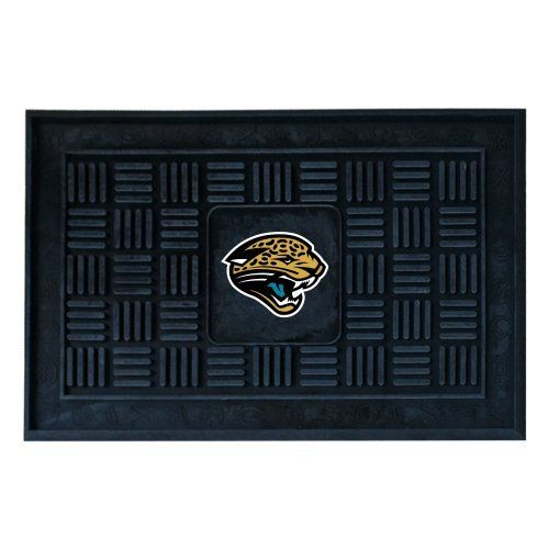 Fanmats 11445 NFL Jacksonville Jaguars Medallion Door Mat by Fanmats. $23.42. Officially licensed. Made in USA. 100 per cent vinyl construction. Greet your guests in style with this NFL® medallion door mat from Fanmats®. It features a durable construction and is boldly decorated with the team logo.. Save 33%!