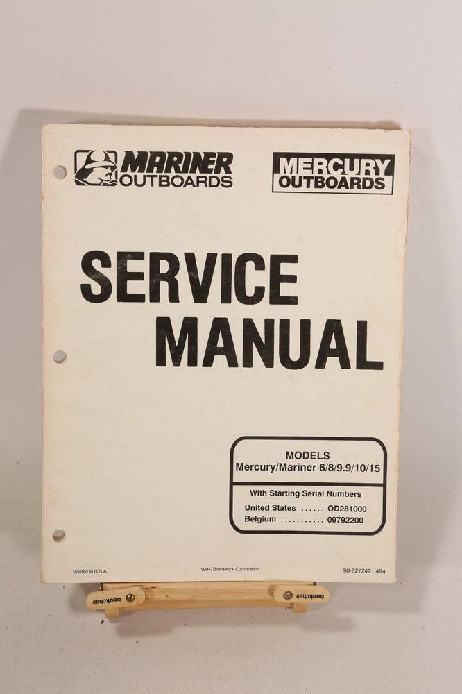 Advertisement Ebay Mercury 6 8 9 9 10 15 Hp Service Shop Repair Manual 90 827242 Repair Manuals Repair Manual