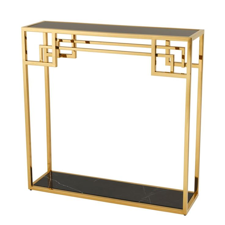 Classy, glamorous black and brass console table from Eichholtz.  Console Table Morris.