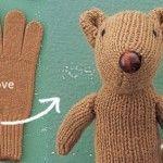 DIY Glove Chipmunk