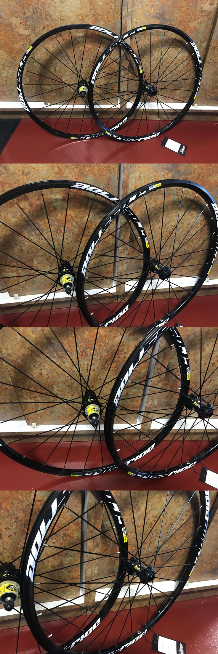 bicycle parts: Mavic Crossride Disc 6 Bolt 29 Mtb Mountain Bike Clincher Wheelset BUY IT NOW ONLY: $225.0
