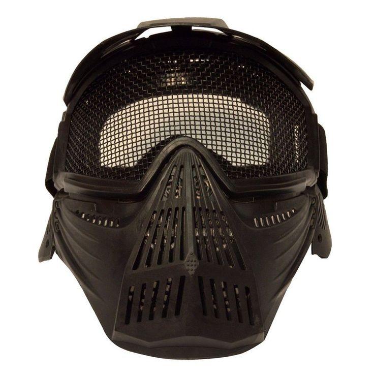 * Nuevo Profesional Al Aire Libre Motocicleta Ciclismo Máscara de Protección Táctico Militar Airsoft Seguridad de Malla Metálica Goggles Máscara de Cara Completa