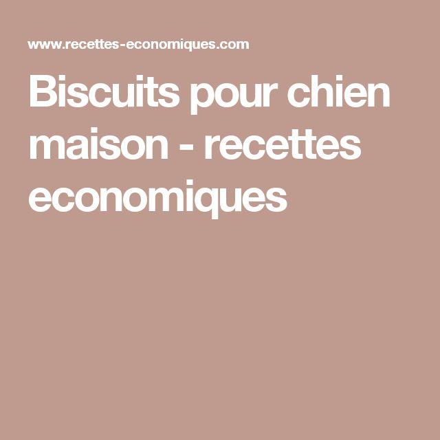 Biscuits pour chien maison - recettes economiques