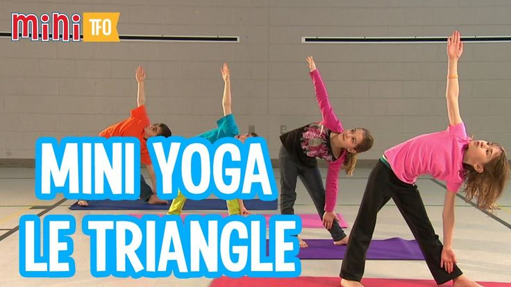 mini yoga le triangle