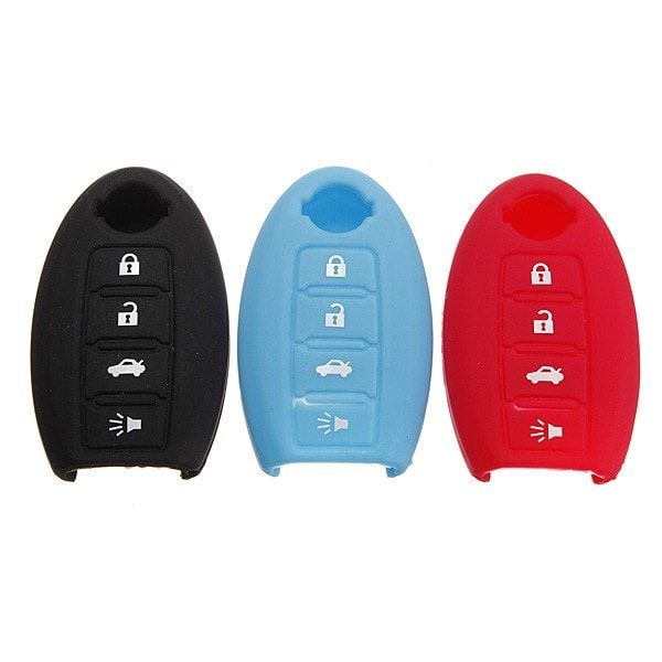 4 Buttons Remote Key Fob Case Silicone Cover For Nissan. 4 Buttons Remote Key Fob Case Silicone Cover For Nissan Altima Maxima Murano    features:    easy To Use And Protect Your Key From Scratches  high Quality, Durable, Perfect For The Key Case    specification:    material: Silicone  color: Black, Red, Blue  button: 4  size:like The Picture Show    fitment:    2006-2012 Nissan Altima  2006-2012 Nissan Maxima  2005-2011 Nissan Murano  2008-2011 Nissan Pathfinder  2008-2011 Nissan Rogue…