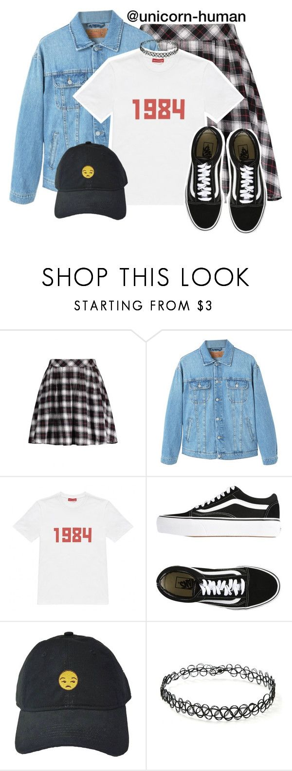 """Untitled #2976"" by unicorn-human on Polyvore featuring MANGO, Gosha Rubchinskiy, Vans and Forever 21"