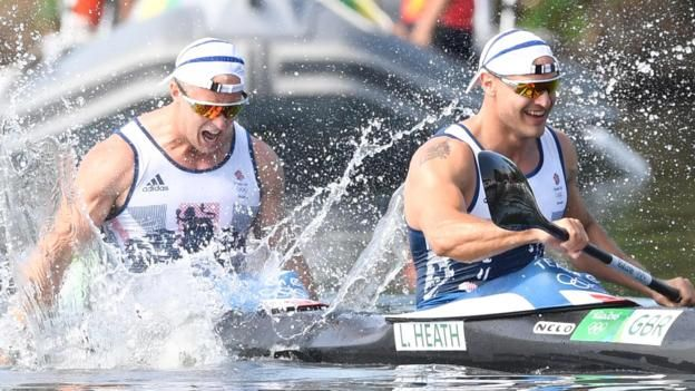 Great Britain's Liam Heath and Jon Schofield won the silver medal in the men's 200m kayak double behind Saul Craviotto and Cristian Toro of Spain.