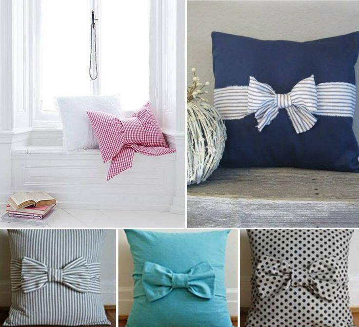 Almofadas meigas! #laços #decoração