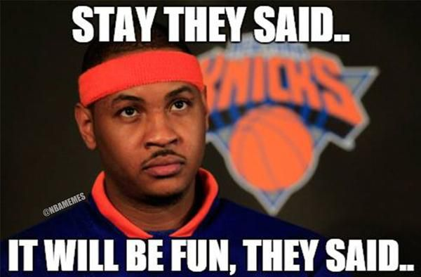 Carmelo Anthony's Thoughts On The New York Knicks This Season! - http://nbafunnymeme.com/nba-memes/carmelo-anthonys-thoughts-on-the-new-york-knicks-this-seaso
