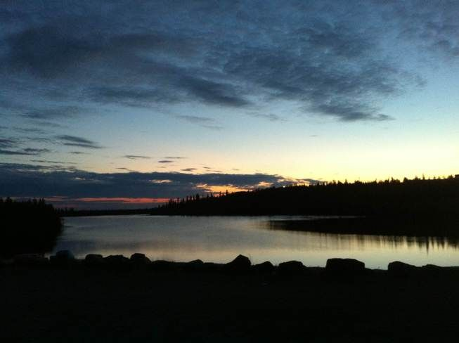 Still dusk at 1am in Inuvik, NT