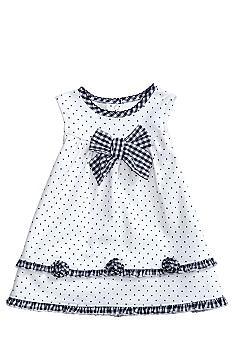 Little Me Gingham & Dot Dress
