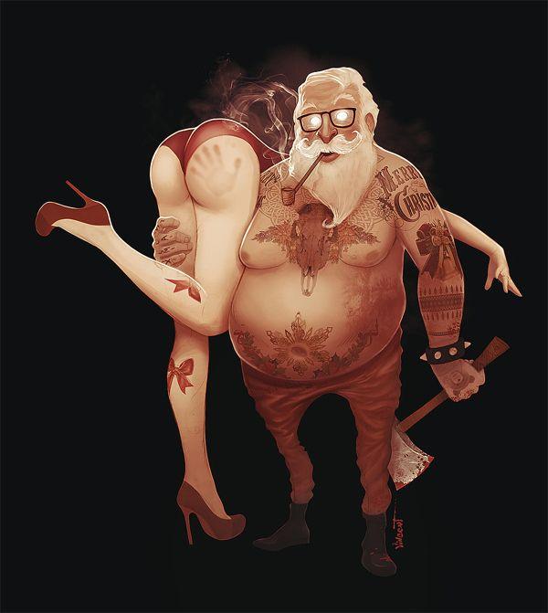 Dirt Santa | #illustration