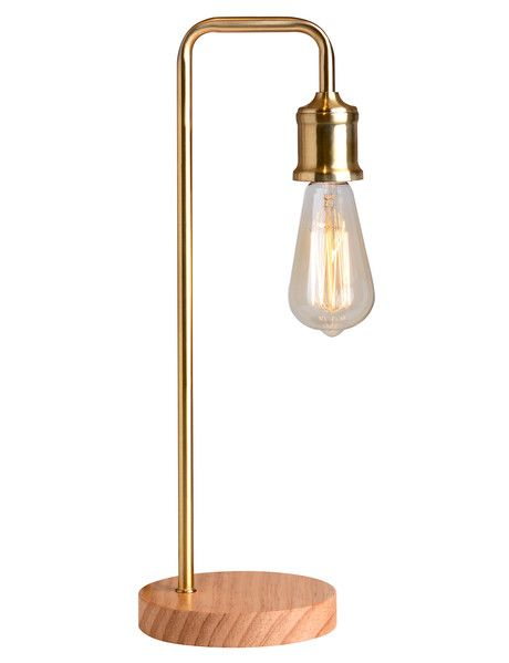 Ideal for creating extra lighting on a desk or side table this Hook Lamp forms part of the Tilly@home Accent collection, and is available in both black and brass colouring (each sold separately).