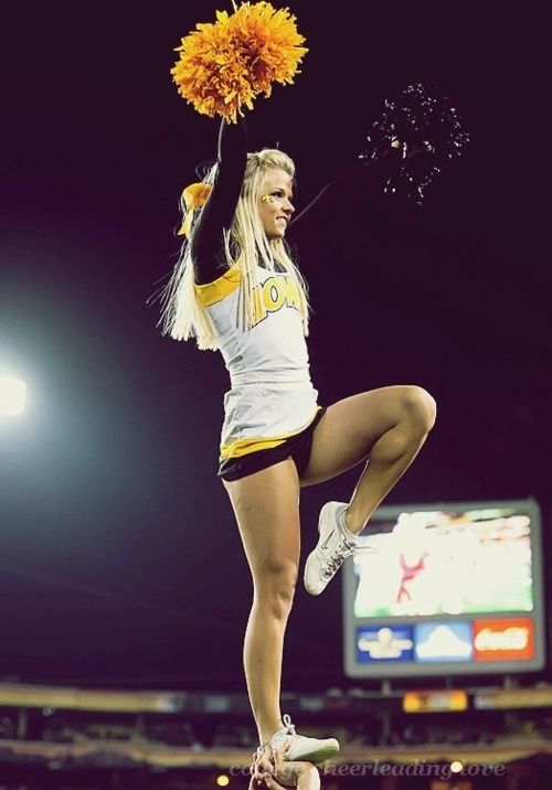 Wrong iowa team, but cant wait for college cheerleading :)