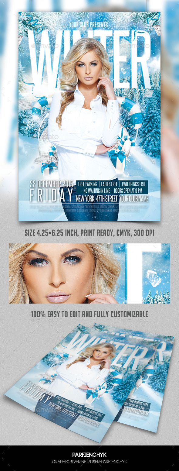 best images about party flyer templates winter party flyer template