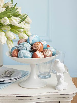 To-Dye-for-Botanical Eggs. The secret to these mini masterpieces? Foliage and flowers gathered